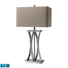 Dimond Lighting Chrome LED Table Lamp with Rectangle Shade
