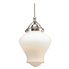 Wac Lighting Early Electric Collection Brushed Nickel LED Mini-Pendant with Urn Sha