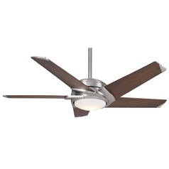 Casablanca Fan Co Stealth Dc Brushed Nickel LED Ceiling Fan with Light