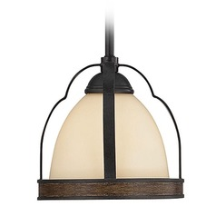 Savoy House Durango Mini-Pendant Light with Bowl / Dome Shade
