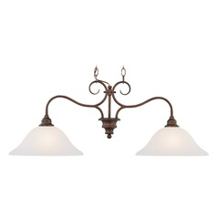 Craftmade Lighting Linden Lane Old Bronze Island Light with Bowl / Dome Shade