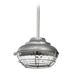 Quorum Lighting Hudson Galvanized Mini-Pendant Light