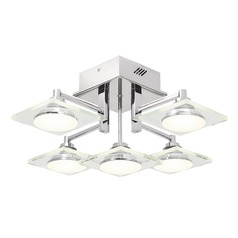 Elan Lighting Firosi Chrome LED Semi-Flushmount Light