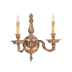 Crystorama Lighting Sconce Wall Light in Olde Brass Finish 2402-OB