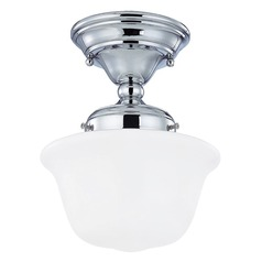 8-Inch Chrome Schoolhouse Ceiling Light