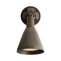 Progress Security Light in Antique Bronze Finish