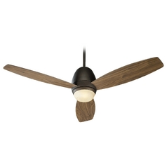 Quorum Lighting Bronx Oiled Bronze Ceiling Fan with Light