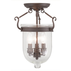 Livex Lighting Jefferson Imperial Bronze Semi-Flushmount Light