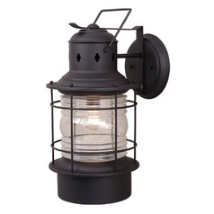 Hyannis Textured Black Outdoor Wall Light by Vaxcel Lighting