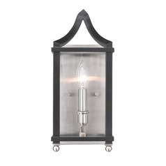 Leighton PW Wall Sconce in Pewter with Black