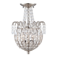 Crystal Semi-Flushmount Light in Imperial Silver Finish