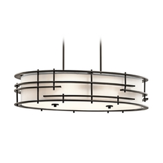 Kichler Lighting Tremba Olde Bronze Pendant Light with Oval Shade
