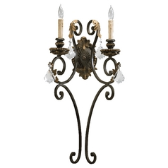 Quorum Lighting Rio Salado Toasted Sienna with Mystic Silver Sconce