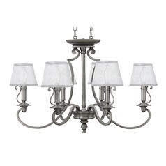 Hinkley Plymouth 6-Light Chandelier in Polished Antique Nickel