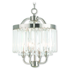 Livex Lighting Ashton Brushed Nickel Mini-Chandelier