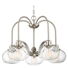 Quoizel Lighting Trilogy Brushed Nickel LED Chandelier