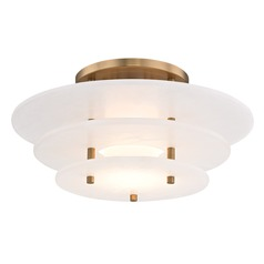 Hudson Valley Lighting Gatsby Aged Brass LED Semi-Flushmount Light