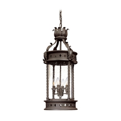 Troy Lighting Outdoor Hanging Light with Clear Glass in Old Bronze Finish F9635OBZ