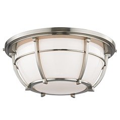Hudson Valley Lighting Conrad Satin Nickel Flushmount Light