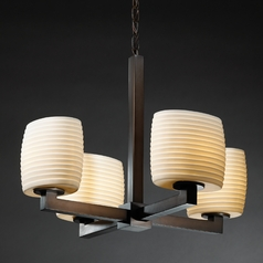 Justice Design Limoges 4-Light Mini Chandelier in Dark Bronze