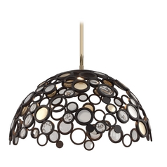 Corbett Lighting Bronze Pendant Light with Bowl Shade