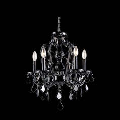 Avenue Lighting Onyx Ln. Black Crystal Chandelier