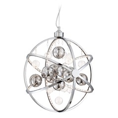 Lite Source Marilyn Chrome LED Pendant Light