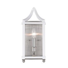 Leighton PW Wall Sconce in Pewter with White
