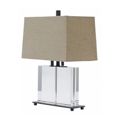 Modern Table Lamp with Grey Shades in Oil Rubbed Bronze Finish