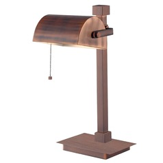 Modern Desk Lamp in Vintage Copper Finish