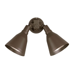 Progress Double Flood Security Light in Bronze Finish