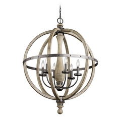 Kichler Lighting Evan Distressed Antique Gray Pendant Light