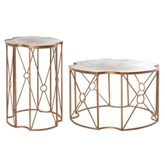 Aidan Gray Home Gold Leaf Coffee & End Table
