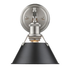 Golden Lighting Orwell Pw Pewter Sconce