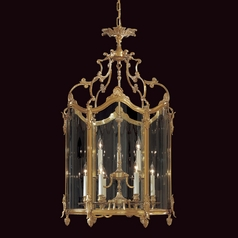 Pendant Light with Clear Glass in French Gold Finish