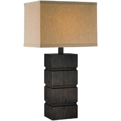 Lite Source Lighting Blog Dark Walnut Table Lamp with Empire Shade