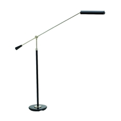 LED Swing Arm Lamp in Black & Satin Nickel Finish