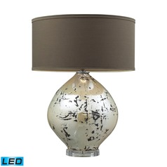 Dimond Lighting Turrit Gloss Beige LED Table Lamp with Drum Shade