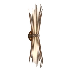 Art Deco Vertical Bathroom Light Bronze Blink Bath by Troy Lighting