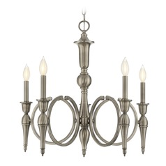 Savoy House Lighting Shannon Polished Pewter Chandelier