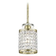 Livex Lighting Grammercy Hand Applied Winter Gold Mini-Pendant Light