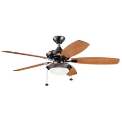 52-Inch 5 Blade LED Ceiling Fan with Light Bronze by Kichler Lighting