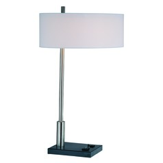Lite Source Lighting Funktions Table Lamp with Drum Shade