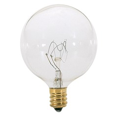 Incandescent G16.5 Light Bulb Candelabra Base 120V by Satco