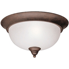 Kichler Lighting Kichler Flushmount Light in Tannery Bronze Finish 8064TZ
