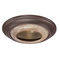 Minka Lighting 6-Inch Nobel Bronze Finish Recessed Light Trim