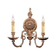 Crystorama Lighting Sconce Wall Light in Olde Brass Finish 2602-OB