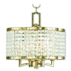 Livex Lighting Grammercy Hand Applied Winter Gold Mini-Chandelier