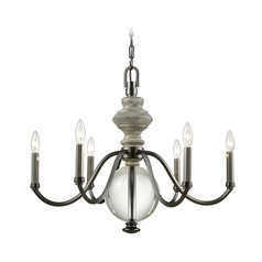 Elk Lighting Neo Classica Aged Black Nickel Chandelier