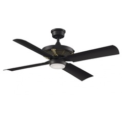 Fanimation Fans Pickett Black LED Ceiling Fan with Light